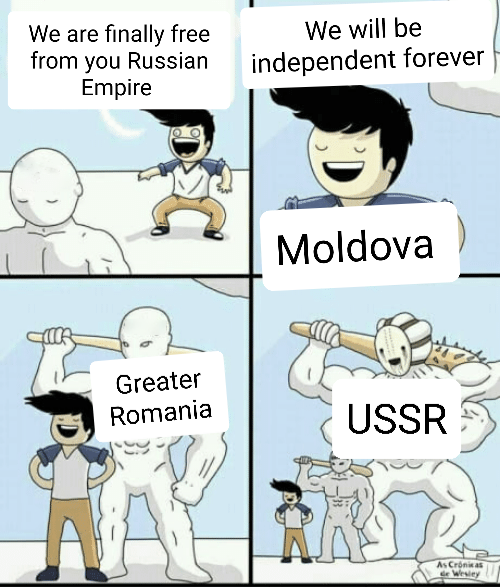 Making a meme of every country's history day 165: Moldova