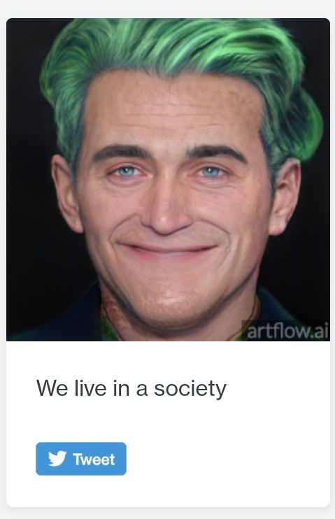 When you live in a society