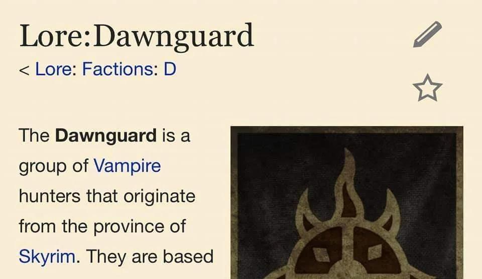 I hear they're reforming the dawwwwnguard