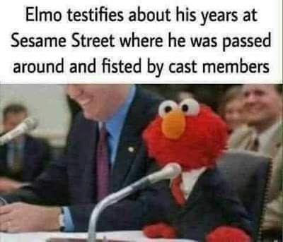 Elmo keeping it real