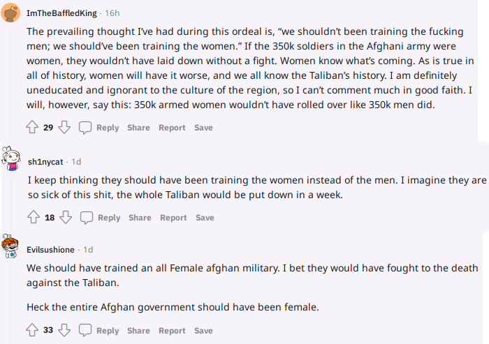But… Why do they need men to train them?