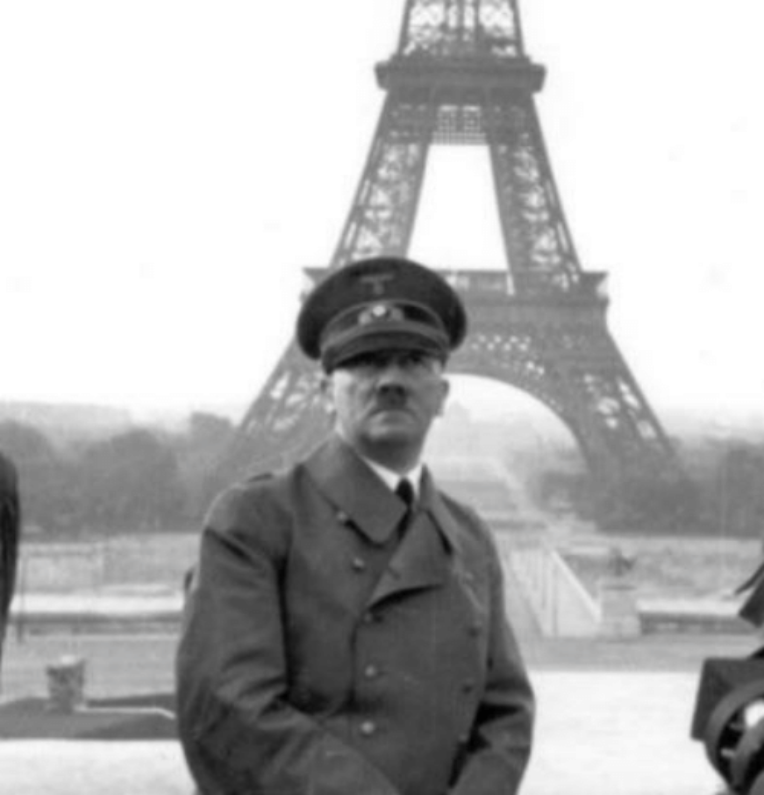 Hitler asks Eva Braun to take a pic for his Instagram page while vacationing in Paris, France