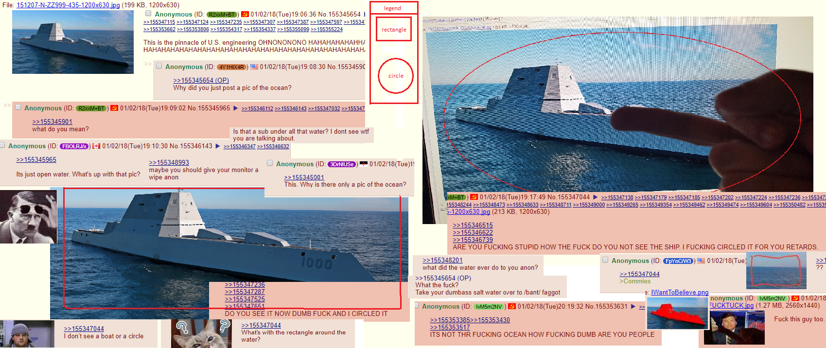 Anon makes fun of a stealth boat