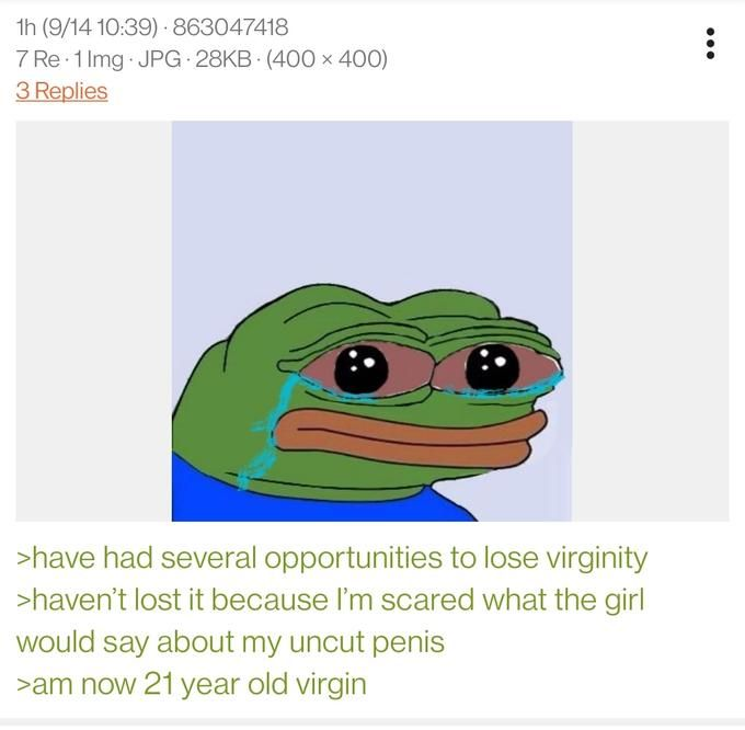 Anon's genitals are not mutilated