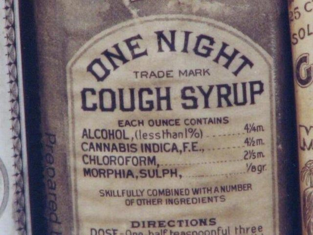 The ingredients in this cough syrup from 1888