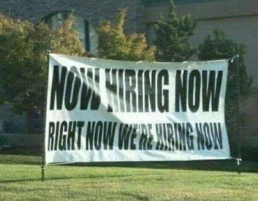 Do you think they're hiring now or...