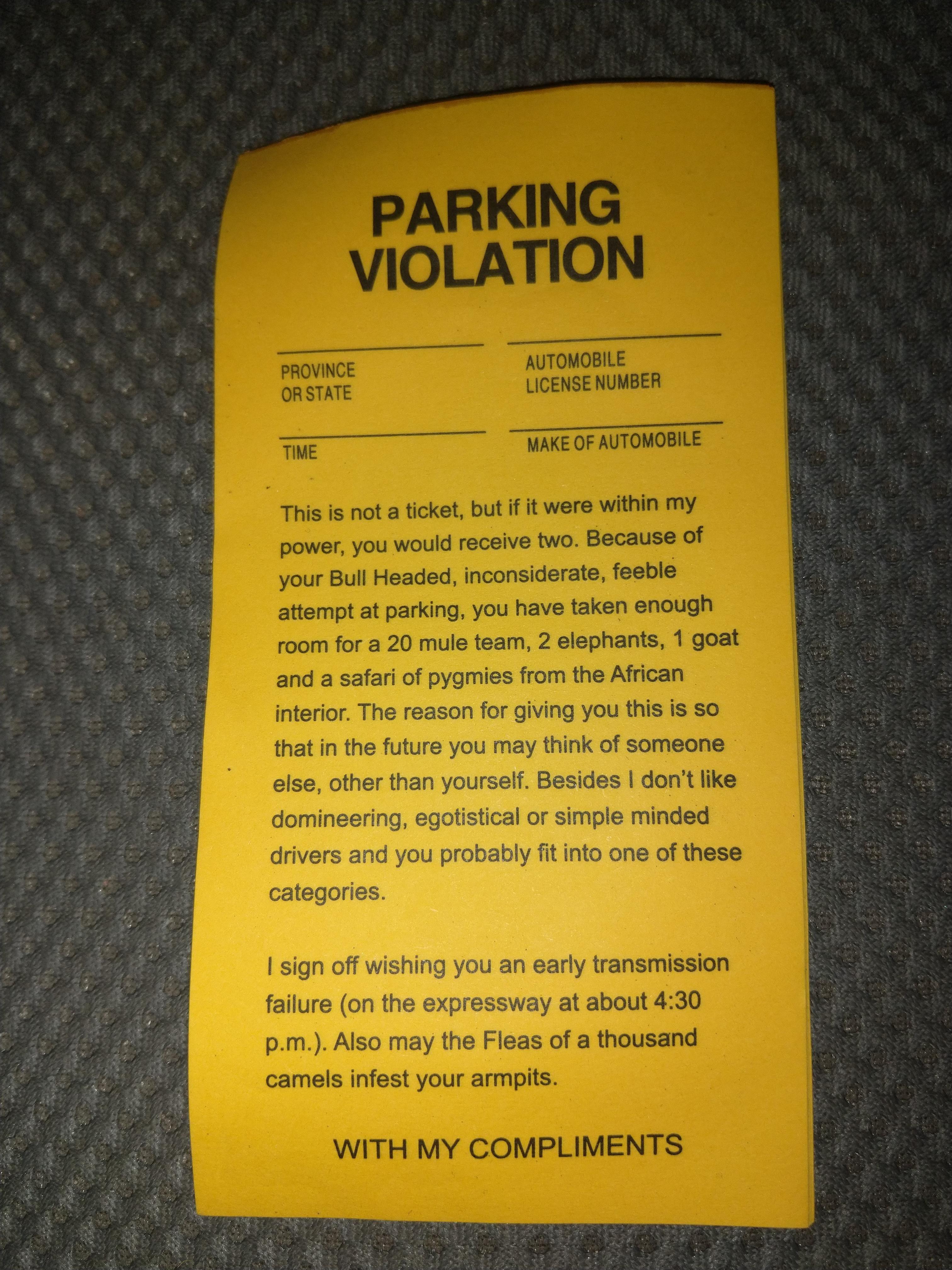*** parking ticket
