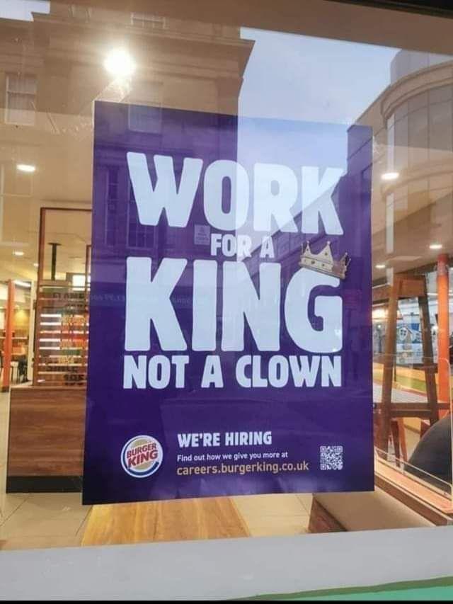 Burger King taking digs at Maccys UK