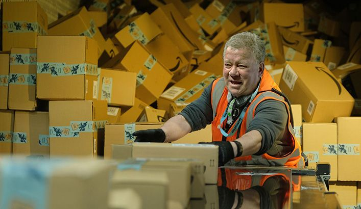 Shatner forced to work for Amazon to pay back flight costs