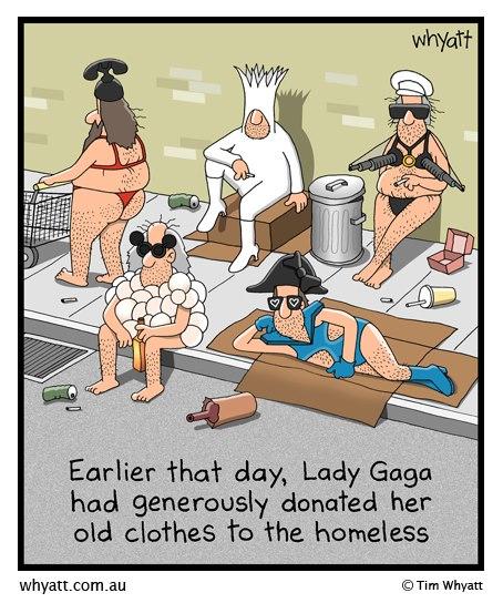 Generous Lady Gaga...