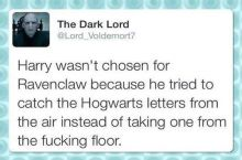 That's because Harry knows well not to bend over when uncle Vernon's around...