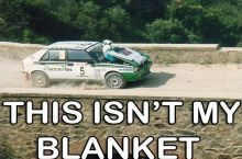 Silly car, you're not a blanket, you're a vehicle