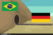 The Germany Vs Brazil game summed up in a GIF