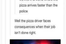 Also, it's illegal to tip your police officer
