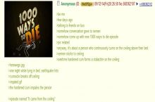Anon explains a sticky situation; new 1000 Ways To Die Ep. idea