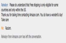 Amazon Chat Racism