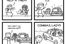 Grammar police strike again
