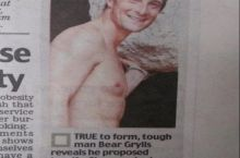 Bear Grylls. A true ladies man.