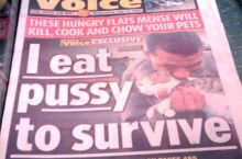 P*ssy to survive? I would be dead a long time ago ....
