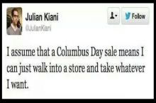 Columbus day sale anyone?