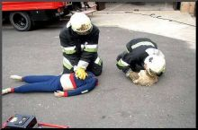 An accident first aid training