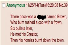 /b/ writing limericks about Mike Brown
