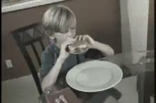 Dammit Kevin, just eat your burger like a normal kid.