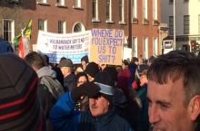 seen at the Irish water protest in Dublin yesterday.