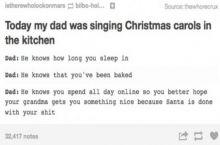 Dad no...