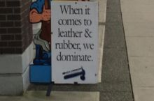 The local cobbler has a way with words