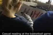 Just Some Casual Reading At The Ball Game
