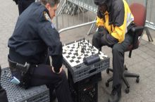 Cop beats black man in New York.