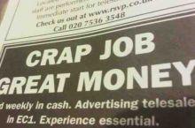 Honest job advertising.