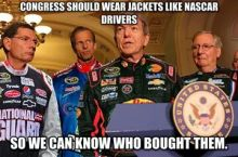 Tip for Congress, Courtesy of NASCAR