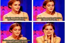 Emma Watson on Kissing Rupert Grint