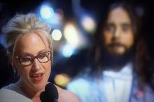 Rare photo of Jesus blessing Patricia Arquette during her acceptance speech.