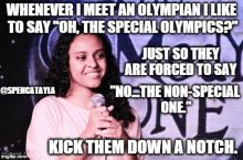 When meeting an Olympian