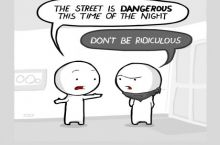 Don't you dare cross the street!