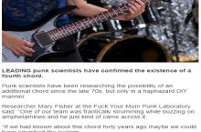Fourth punk chord discovered by scientists!
