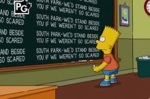 The Simpsons supporting South-Park for standing up to censorship.