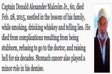 Great Obituary - Smoked, drank, lied to the end