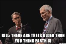 When I argue with creationists.