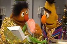 Ernie likes it prison-style.