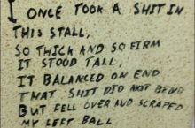Toilet Poetry At It's Best