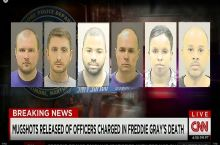 CNN really turned down the contrast in their freddie gray case mugshots...