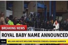 Royal baby's name is announced