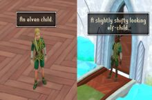 So when you examine the only non-white elf in Runescape...