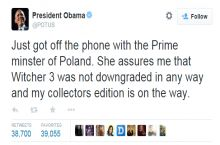 Obama ensures us the Witcher 3 is all good