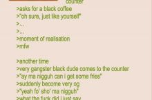 Anon say the N word