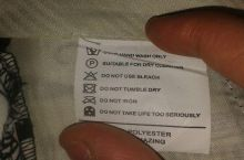Laundry care tag